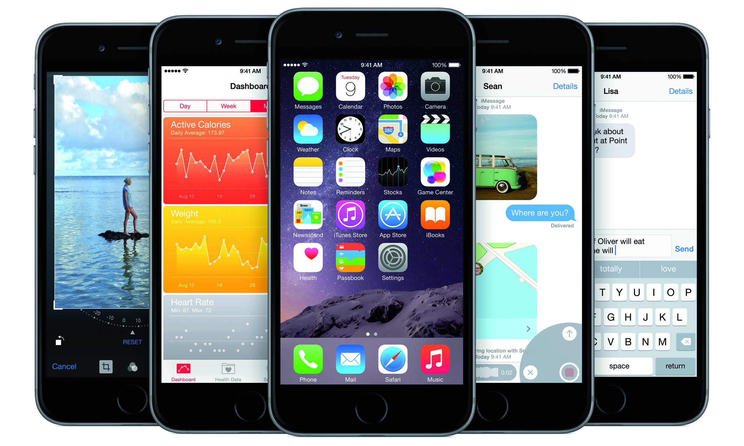 Apple unveiled two new iPhones, the iPhone 6 and iPhone 6 Plus, at their September 9, 2014 announcement. The phones are