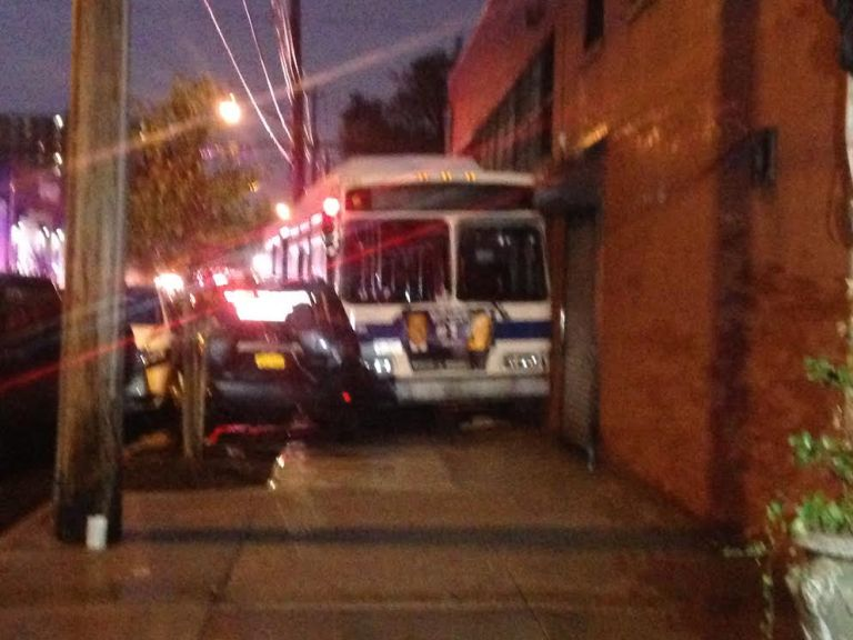 Eight people were taken to the hospital with non life-threatening injures. (Photo: Ayana Harry/WPIX)