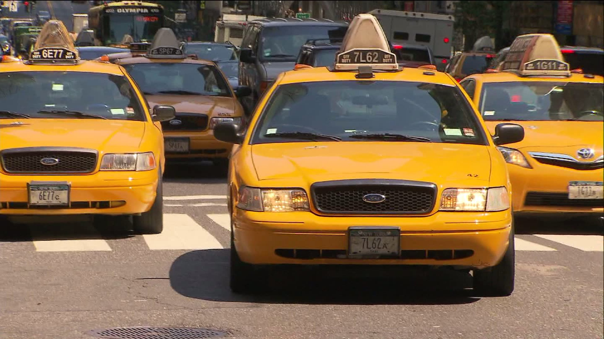 File photo of taxi cab in New York City