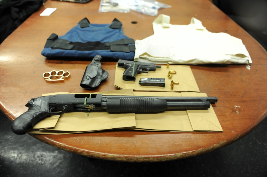 Firearms from a man who allegedly made threats against the NYPD were confiscated. (NYPD)
