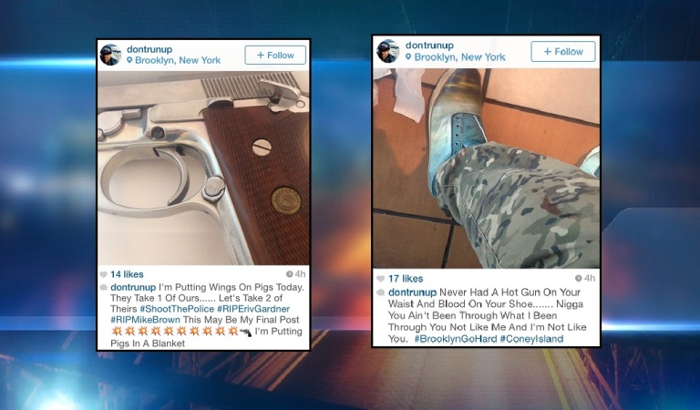 Instagram posting that are being investigated by the NYPD.