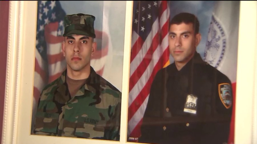 Dossi served in the military and has been with the NYPD for 8 years.