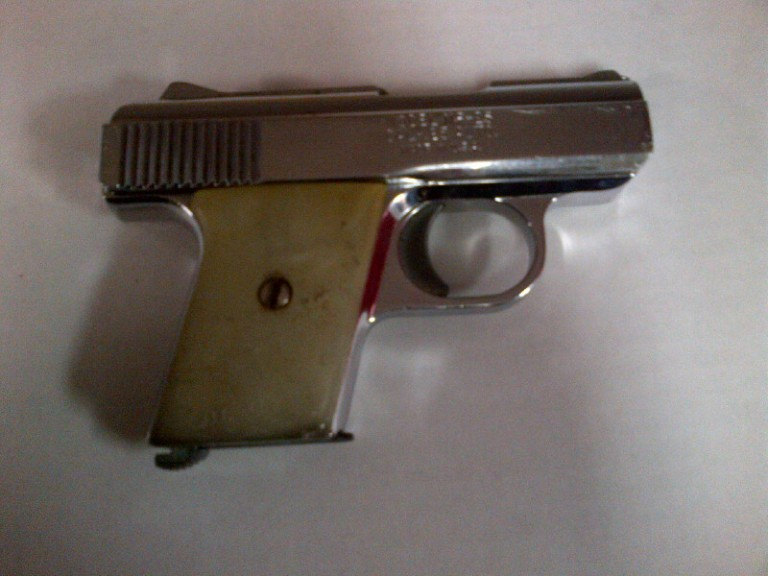 Police in Brooklyn recovered a .25 caliber Ravens Arms handgun when they were investigating an illegal livery cab operation in East Flatbush. (Photo: NYPD)