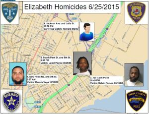 The prosecutor's officer released a map of the killings allegedly done by West.
