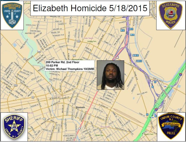 West is accused in four murders and a fifth shooting in Elizabeth. (Union County Prosecutor's Office)
