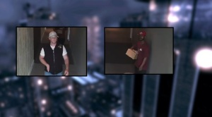 Police are searching for these two men in connection to an attempted robbery. (DCPI)