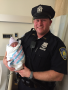 Port Authority Police Officer Brian McGrawhelped bring little Asenat Abdrabo into the world at the WTC PATH station. (Port Authority)