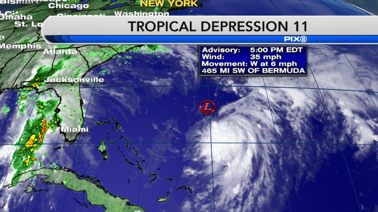 Tropical Depression 11 is building as it heads north, and it could mean heavy rainfall for the tri-state area.