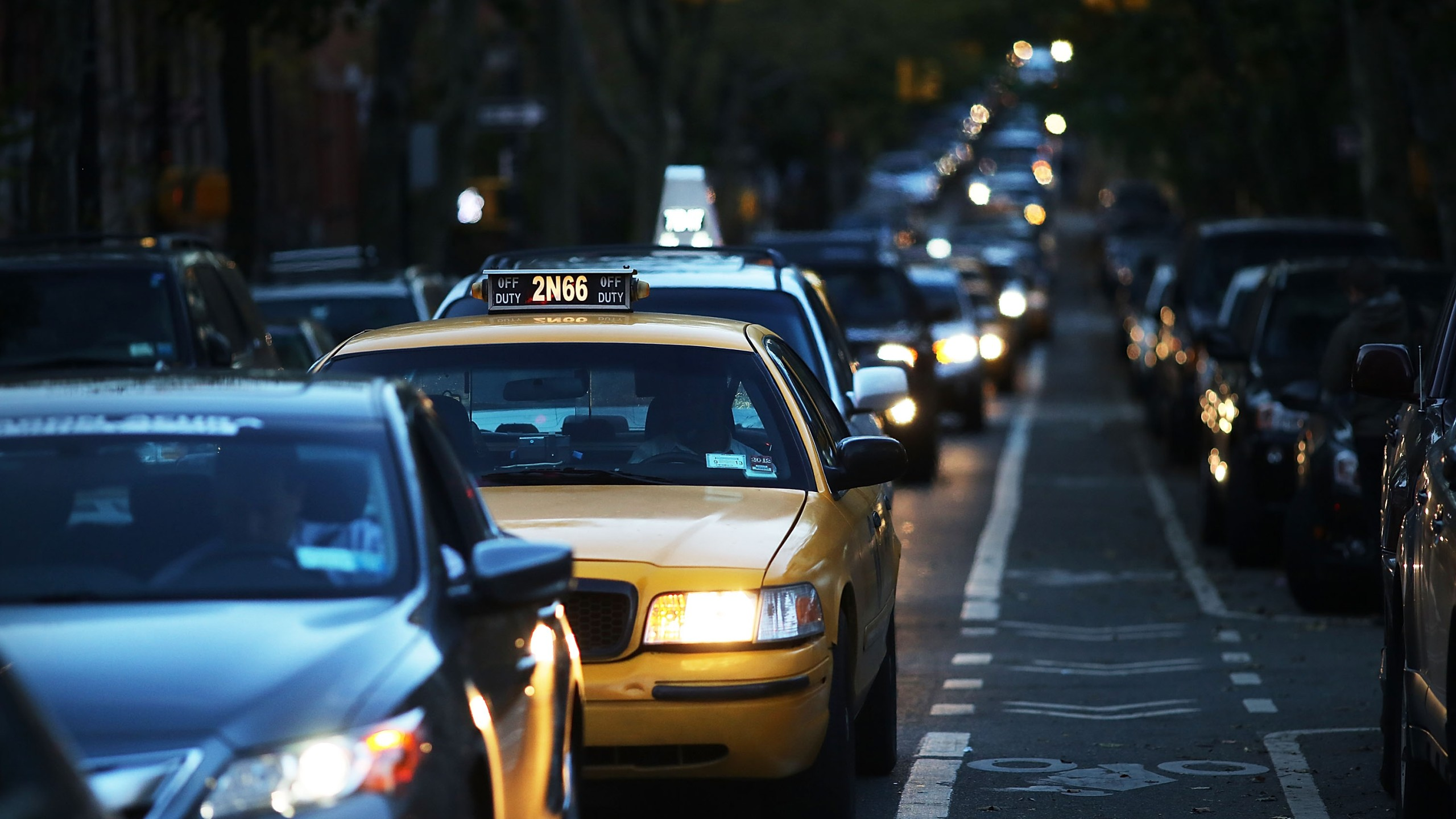 Cars in NYC traffic