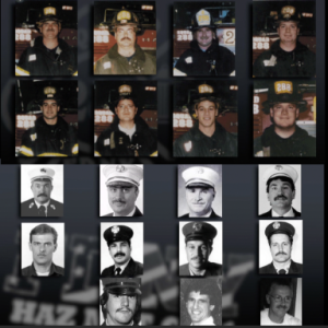 19 members of Squad 288 and HazMat 1 who died in 9/11 attacks