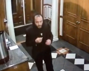Police say this individual broke into Avenue O Synagogue and took Torah scrolls on October 25, 2016.