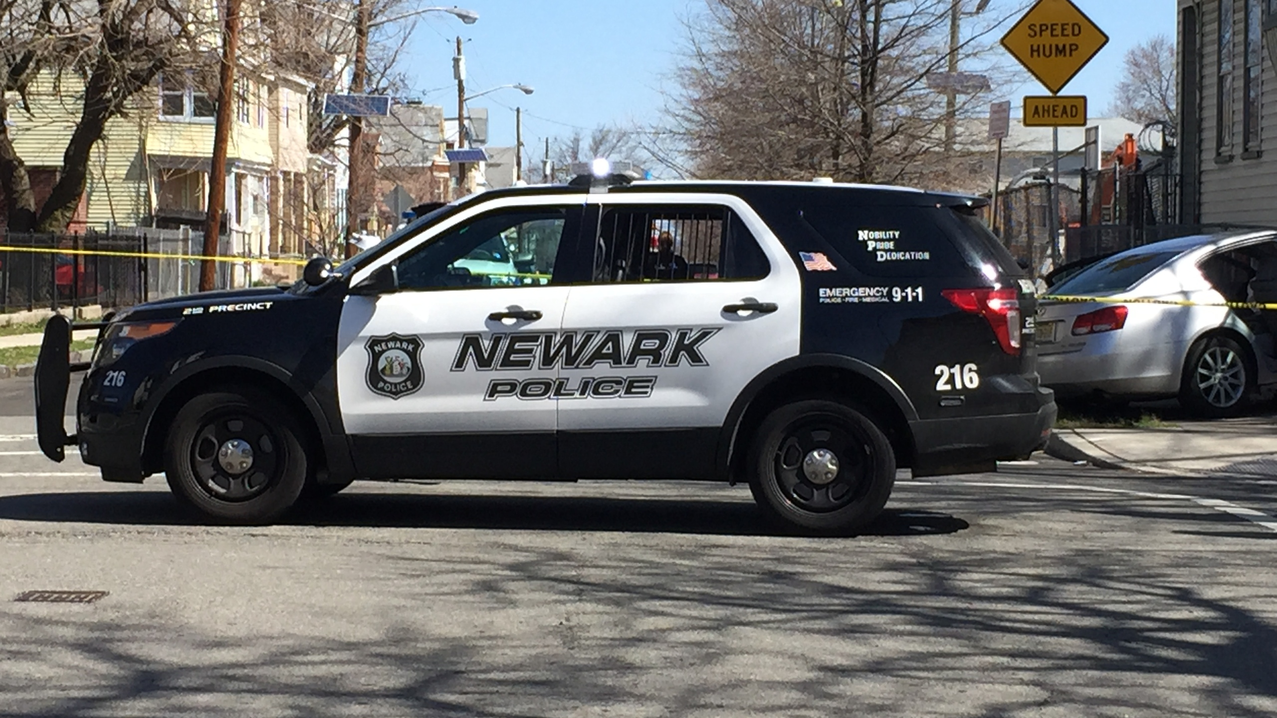 Newark police vehicle