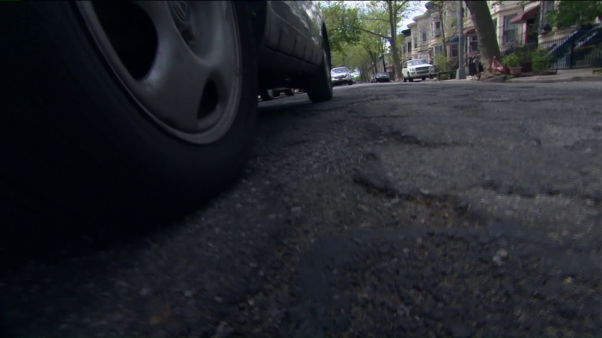 Pothole on Brooklyn street