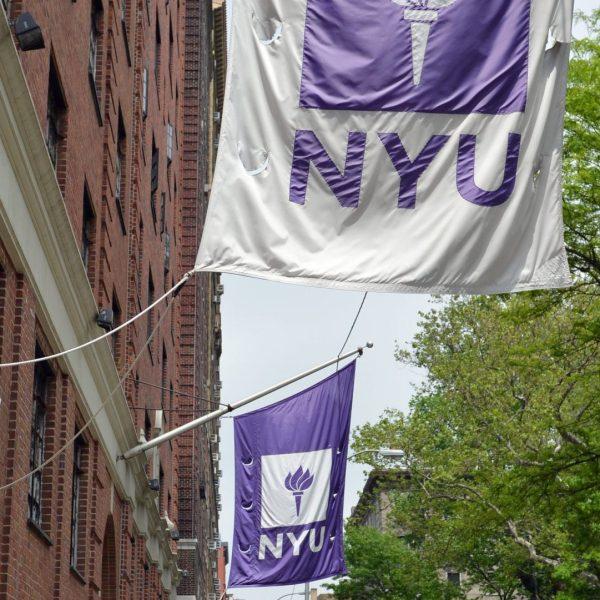 NYU flag in nyc