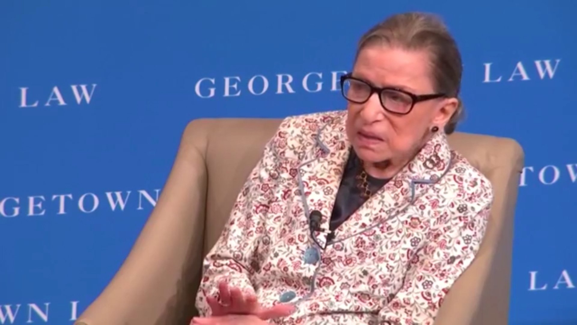 Justice Ginsburg returns to Supreme Court for work afterfall