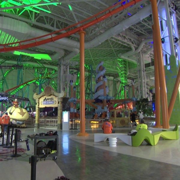 Nickelodeon Universe Theme Park at the American Dream megamall in New Jersey