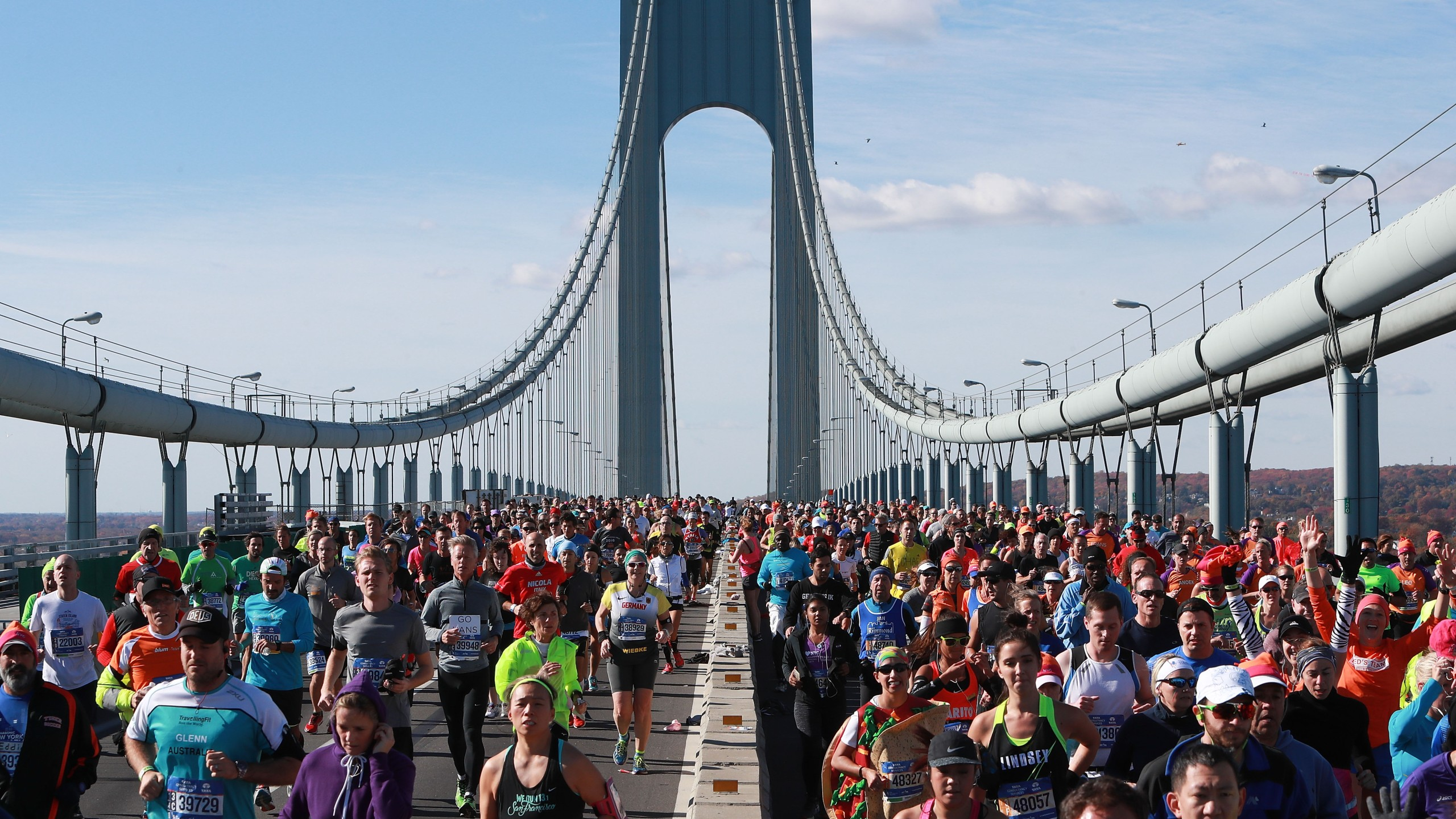 New York City marathon runners in 2016