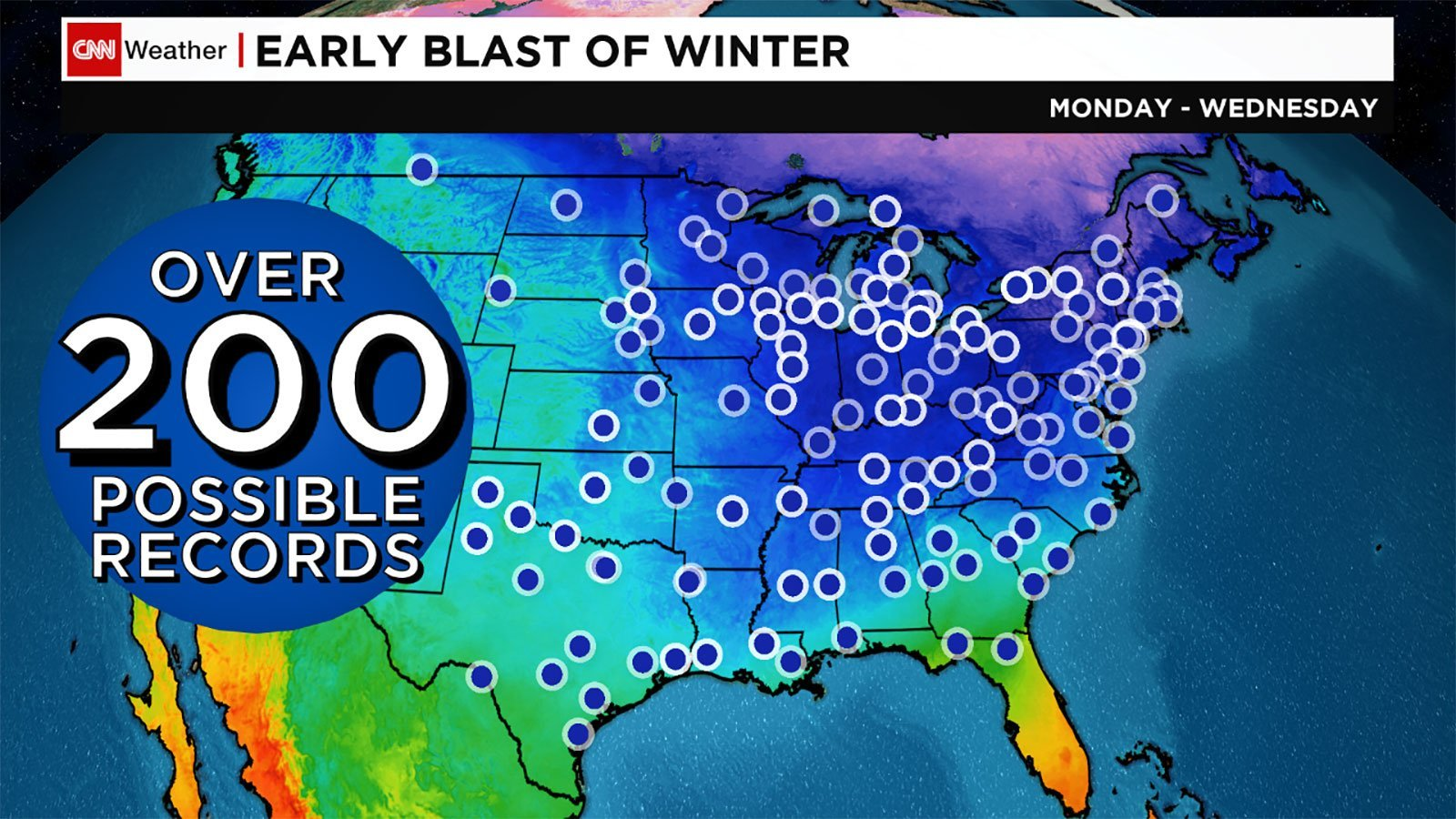 East Coast freeze will be so cold, it could break up to 200 records