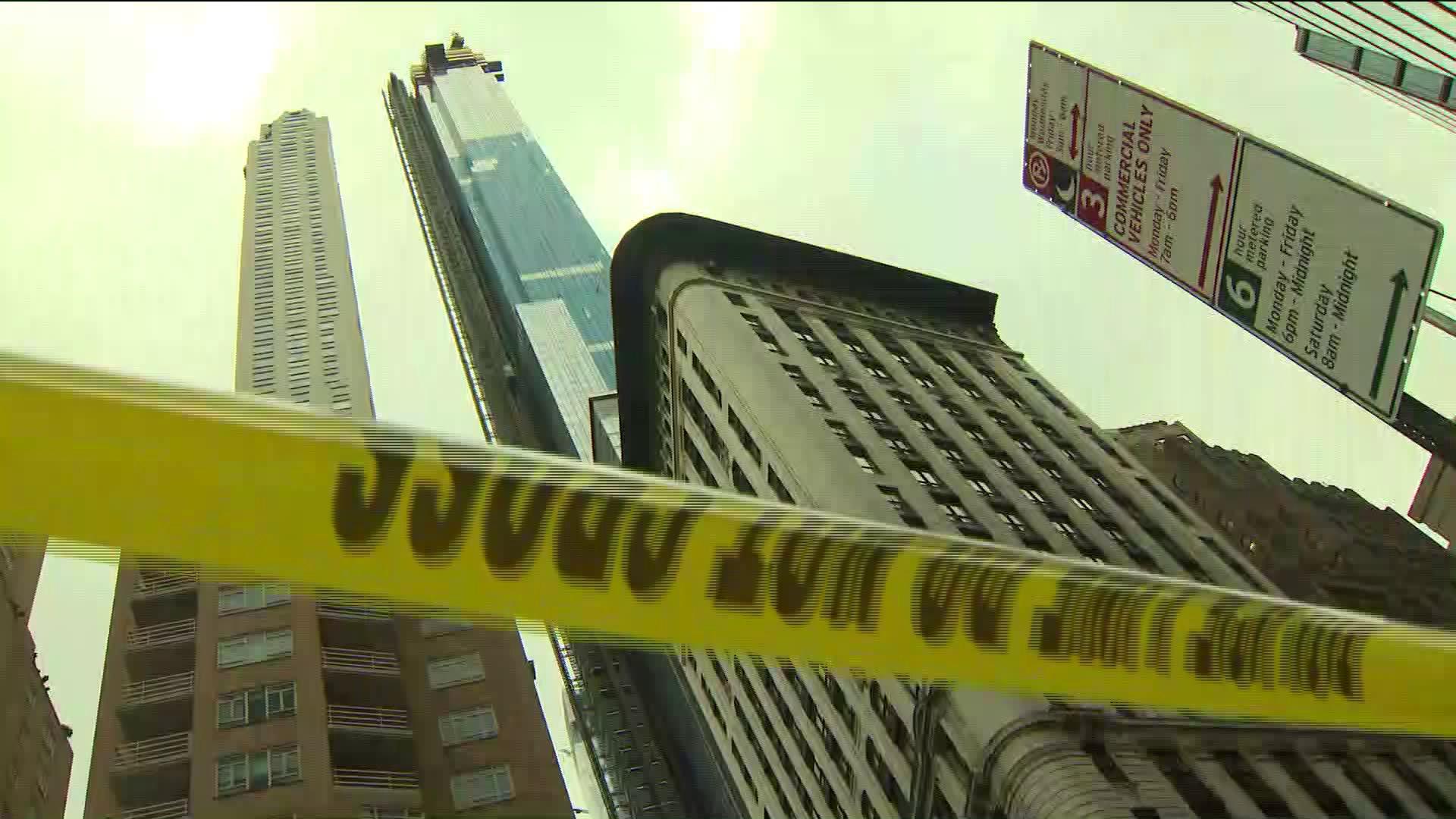 Falling ice hits, injures person near Columbus Circle in Midtown Manhattan