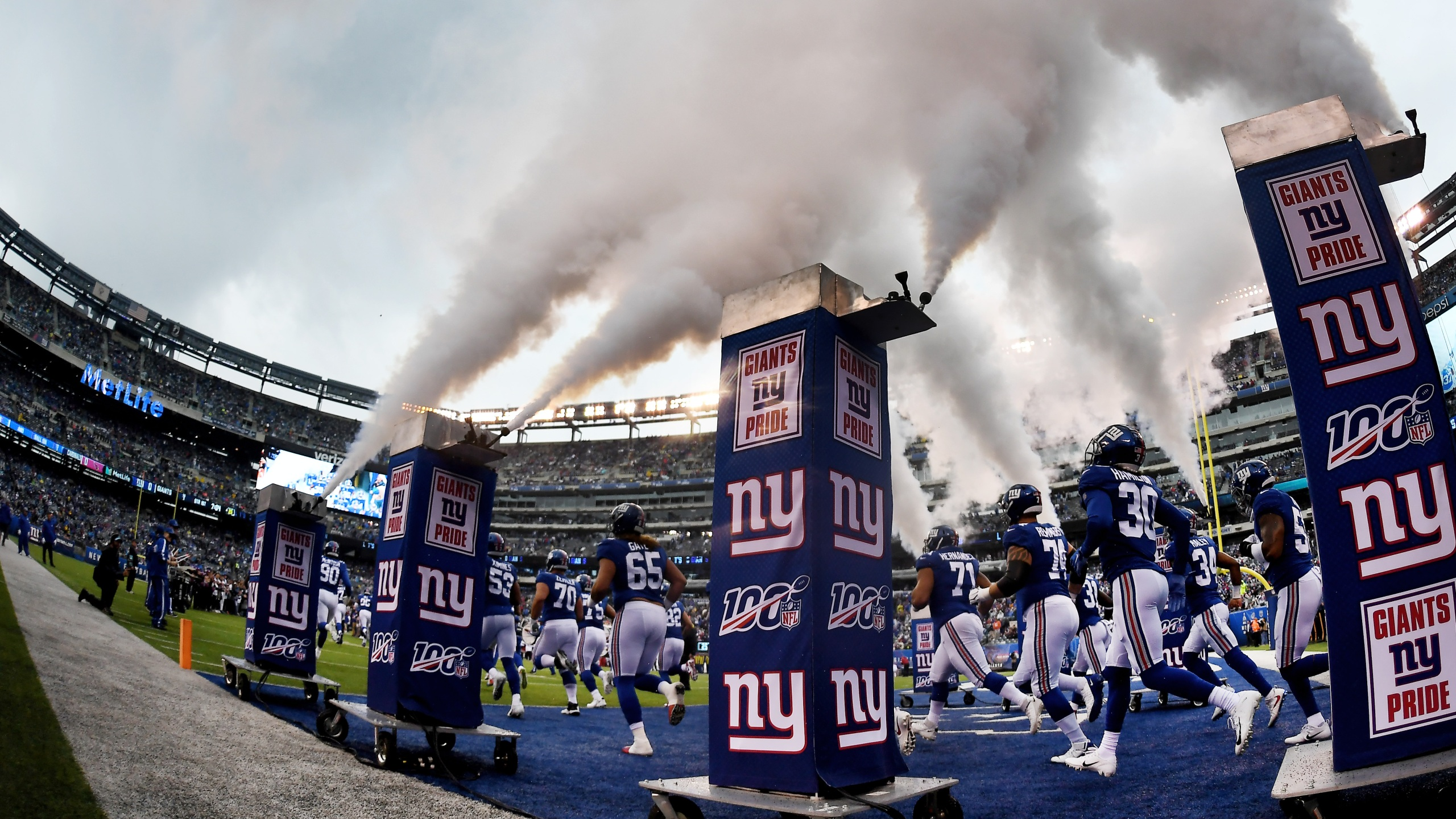 Giants at Metlife Stadium in New Jersey