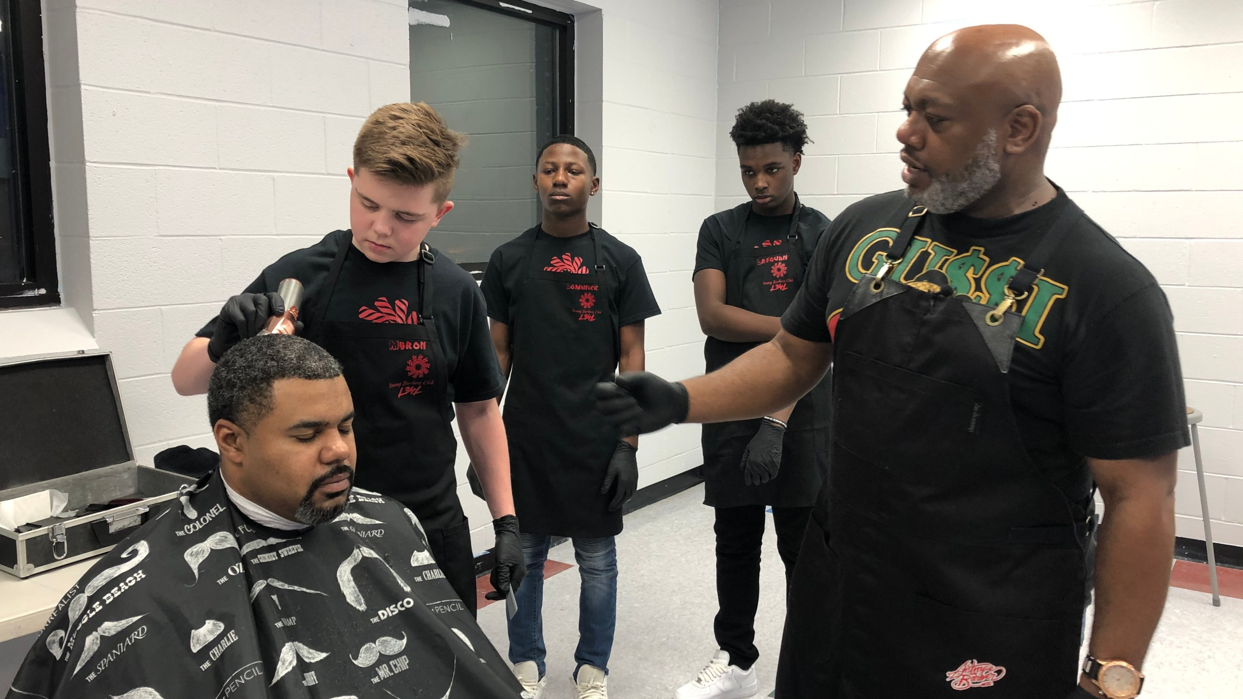 Maryland barber creates Young Barbers Club to help keep kids off the streets