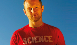 Baba Brinkman, a self proclaimed science rapper in New York.