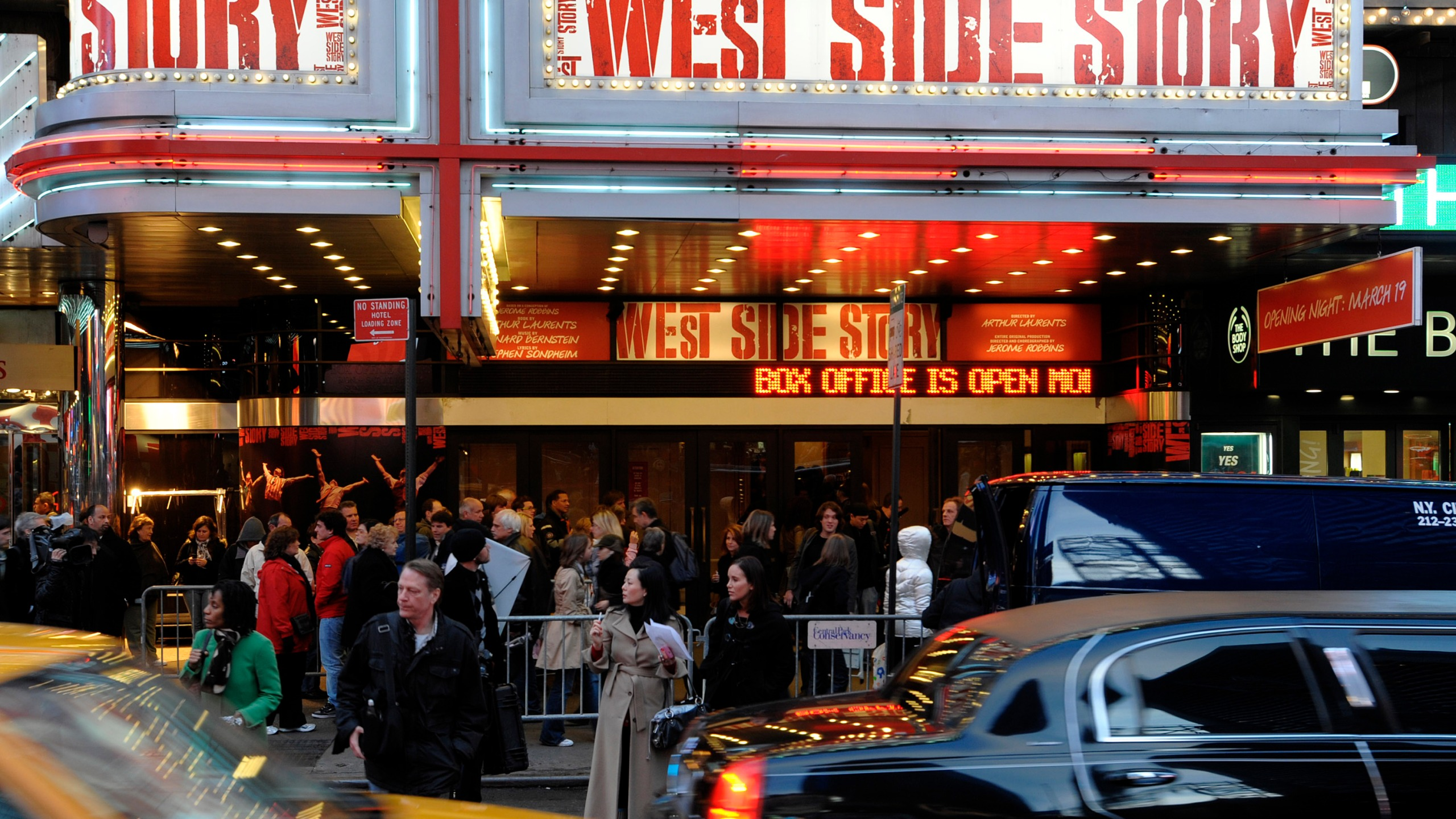 west side story broadway marquee