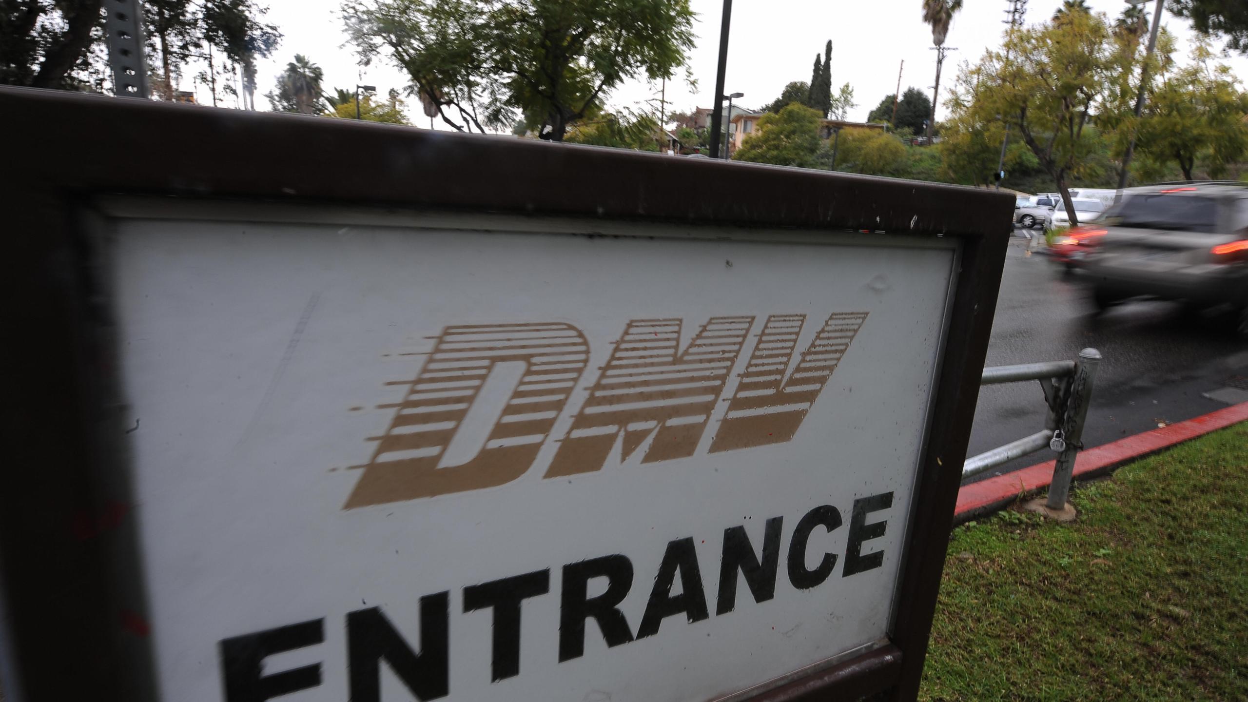 A car arrives at the DMV