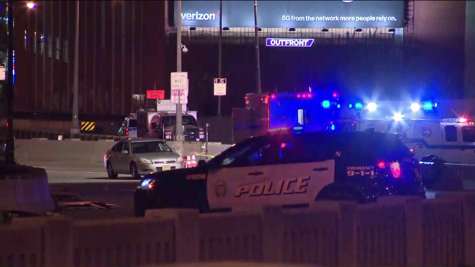 Port Authority police officer struck in Jersey City
