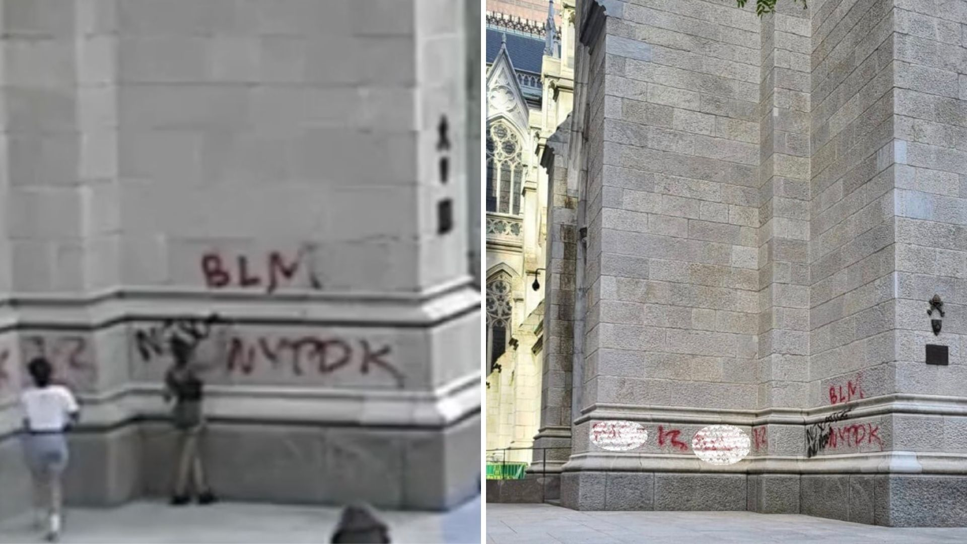 St. Patrick's Cathedral vandalized