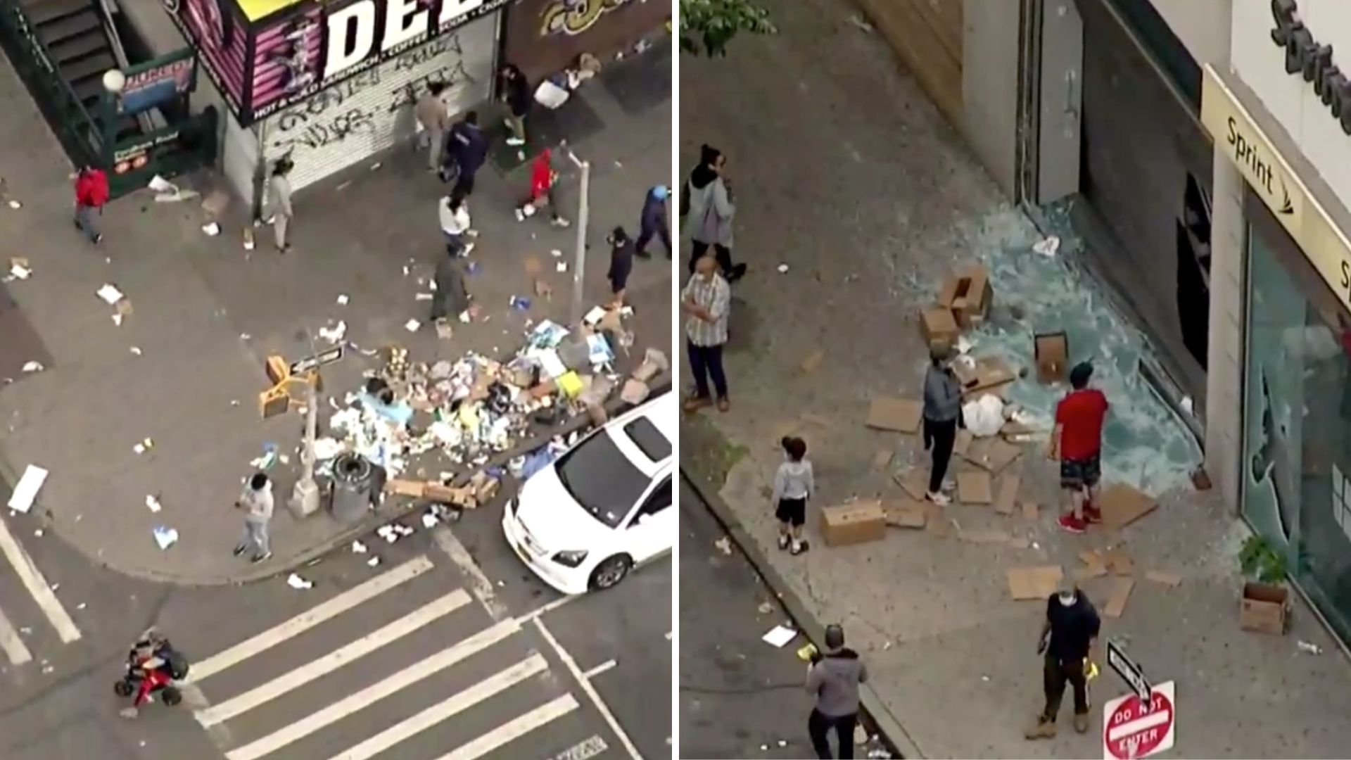 Bronx chaos and destruction aftermath