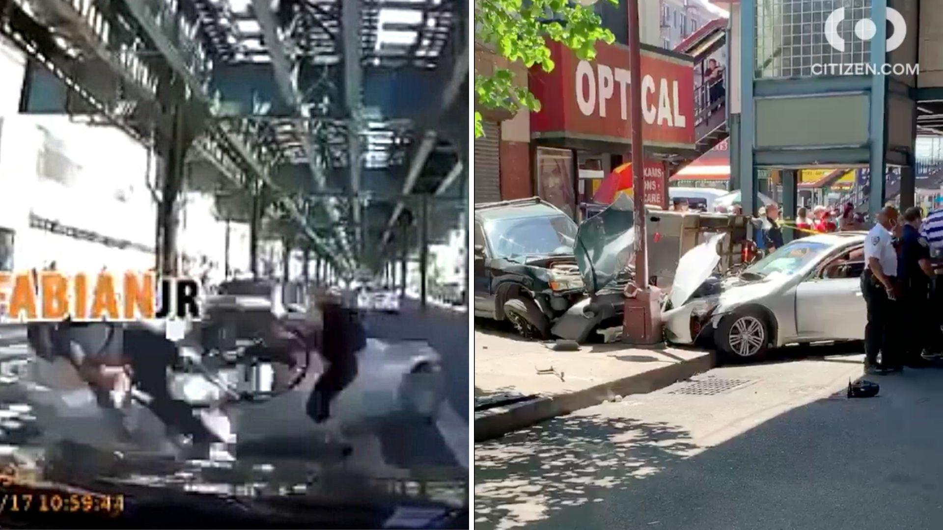Car plows into pedestrians in the Bronx
