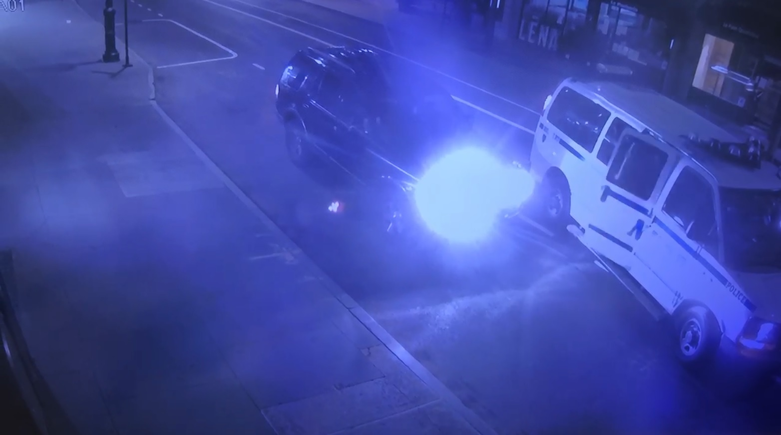 NYPD officer hit by car while chasing alleged looters