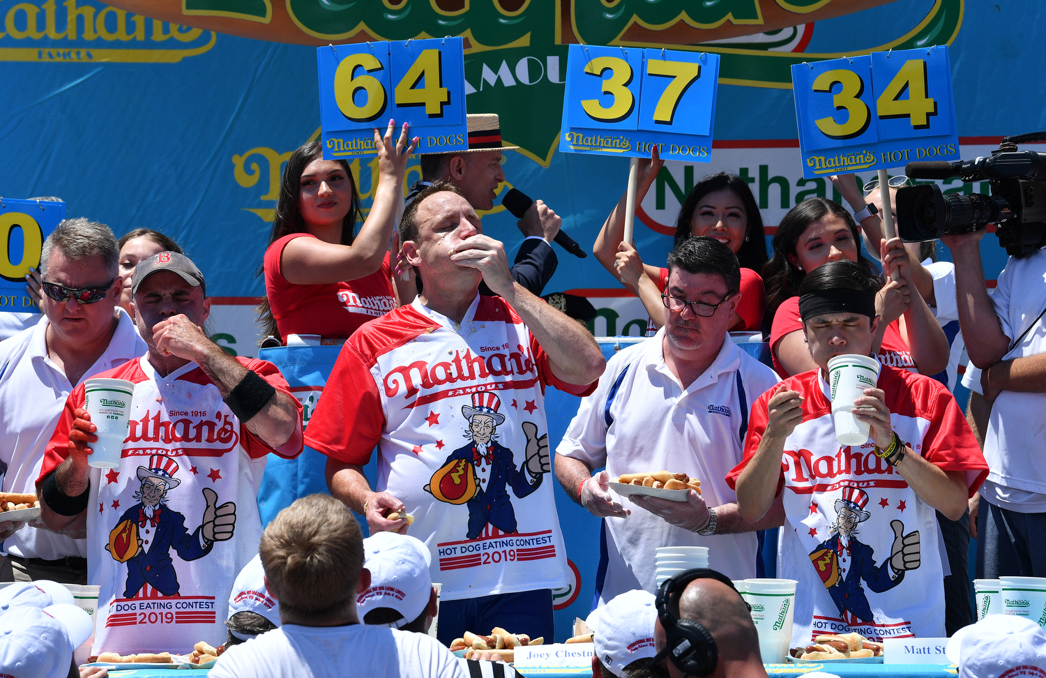 Nathan's July 4th hot dog eating contest