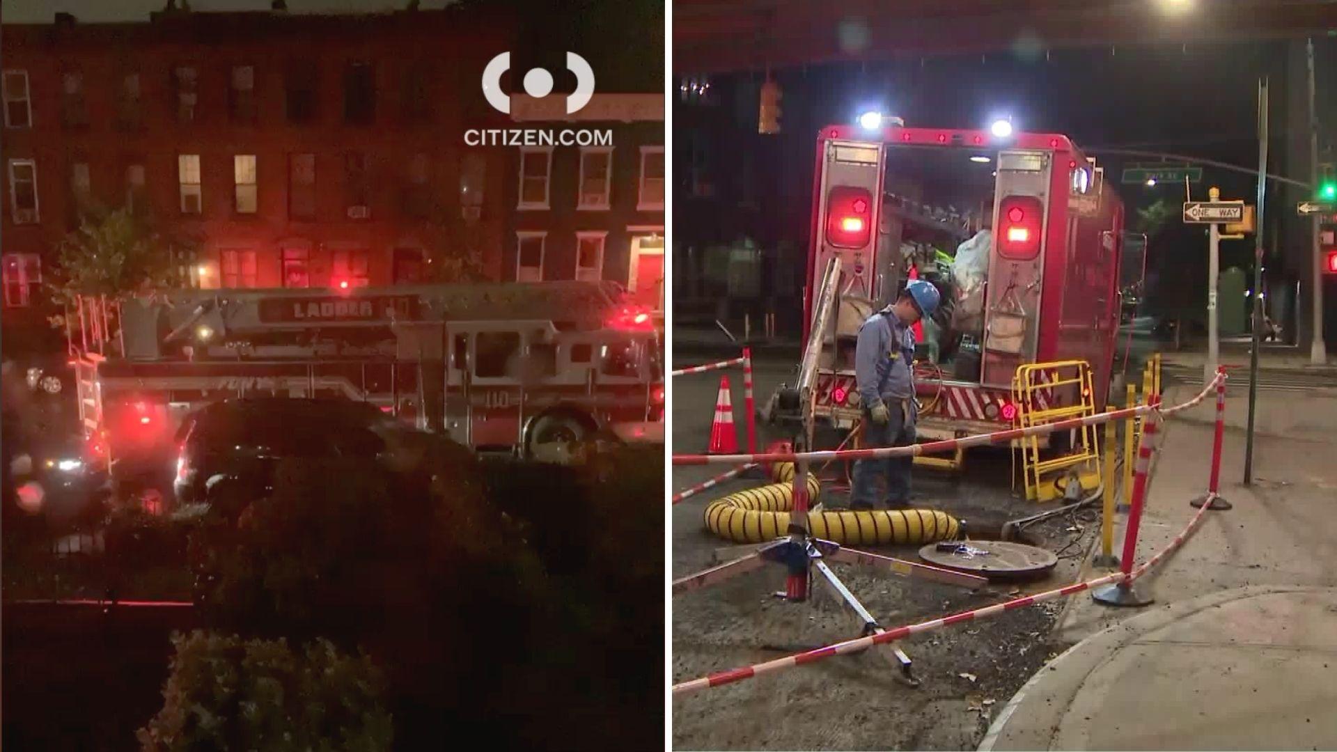 Brooklyn manhole fires in Clinton Hill
