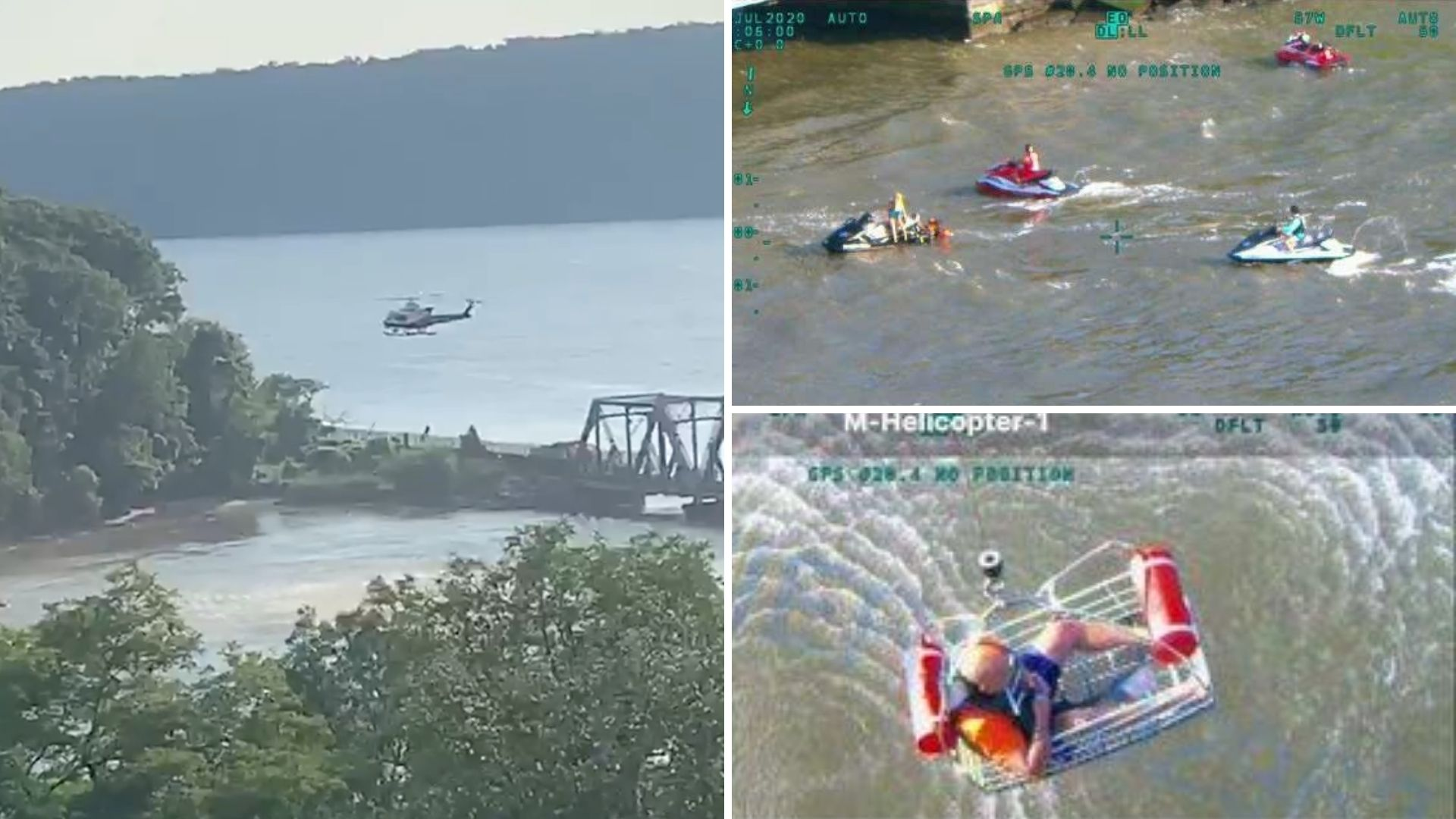 Injured jet skier rescued by NYPD in Hudson River near Bronx and Inwood