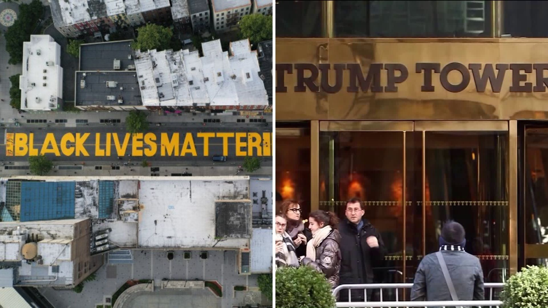 Black Lives Matter mural set to be painted on Fifth Avenue outside Trump Tower