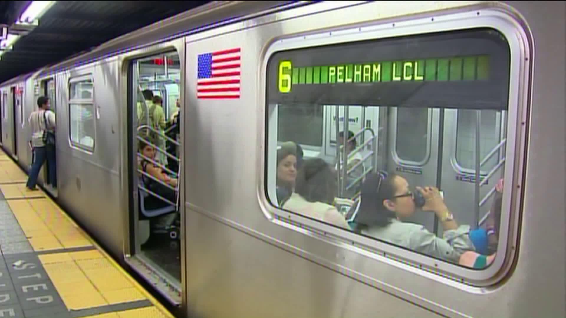No. 6 subway train line