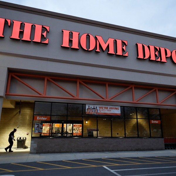 exterior of home depot store