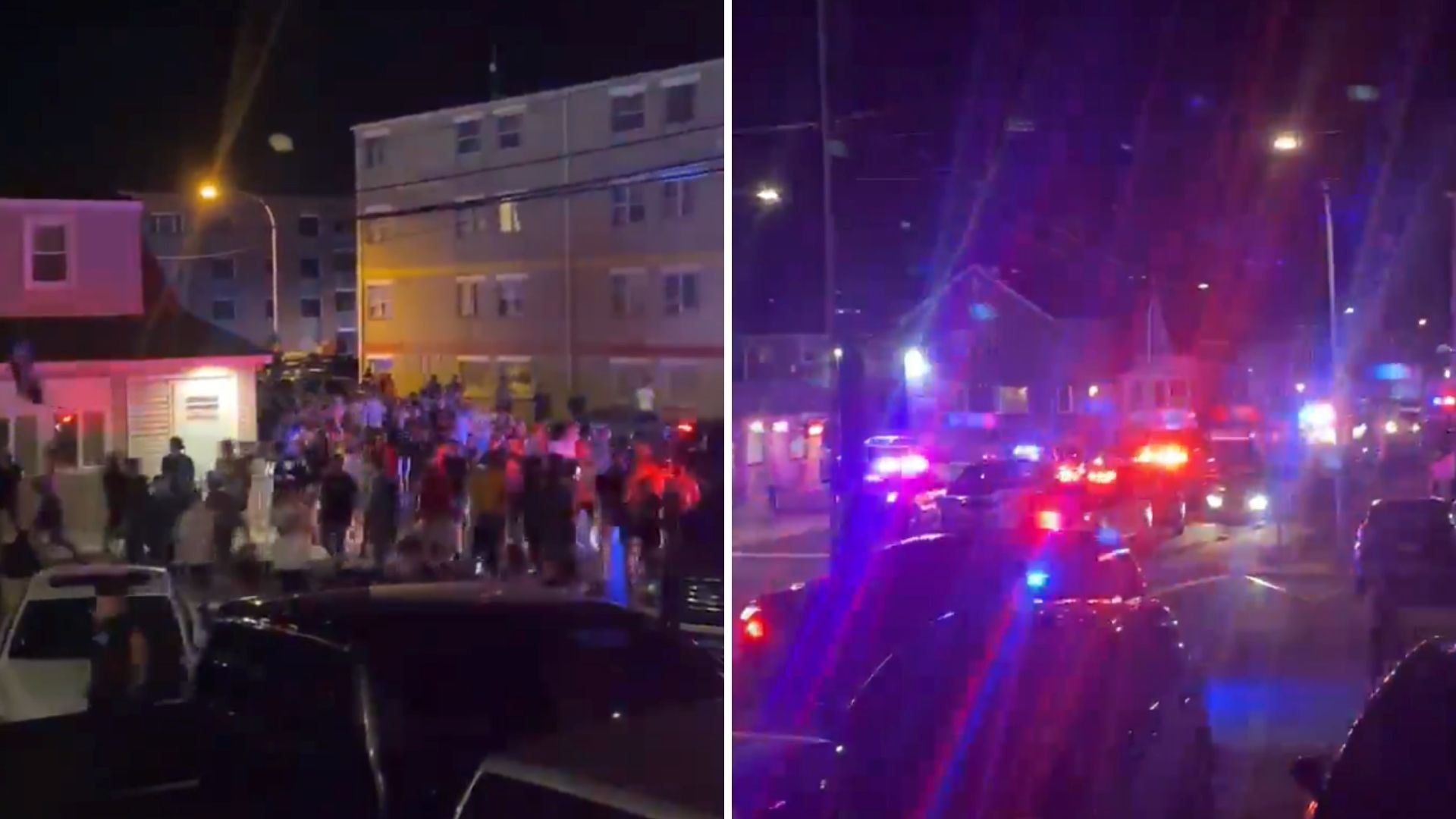 Large crowd dispersed at Jersey Shore house in Seaside Heights