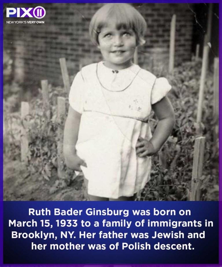 Ruth Bader Ginsburg as a child