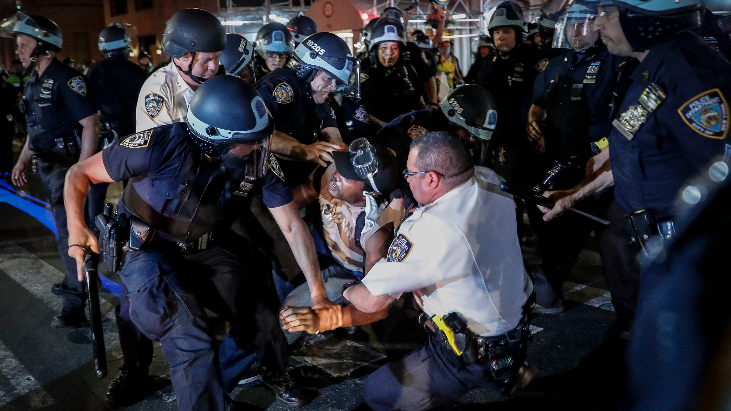nyc protest arrest