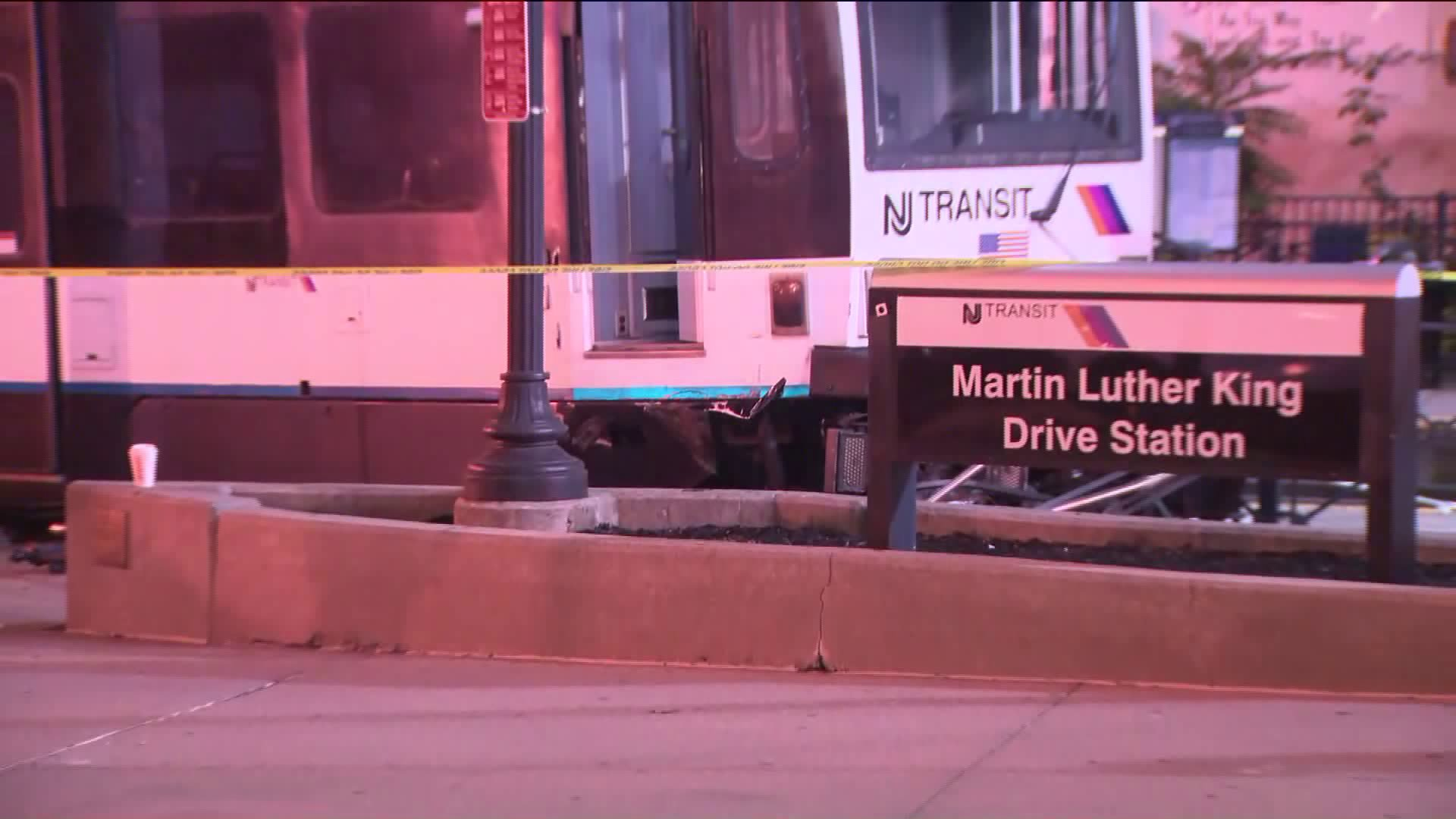 NJ Transit Hudson-Bergen Light Rail train derailment in Jersey City