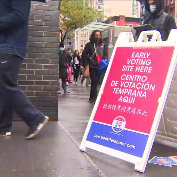 nyc early voting polling sign