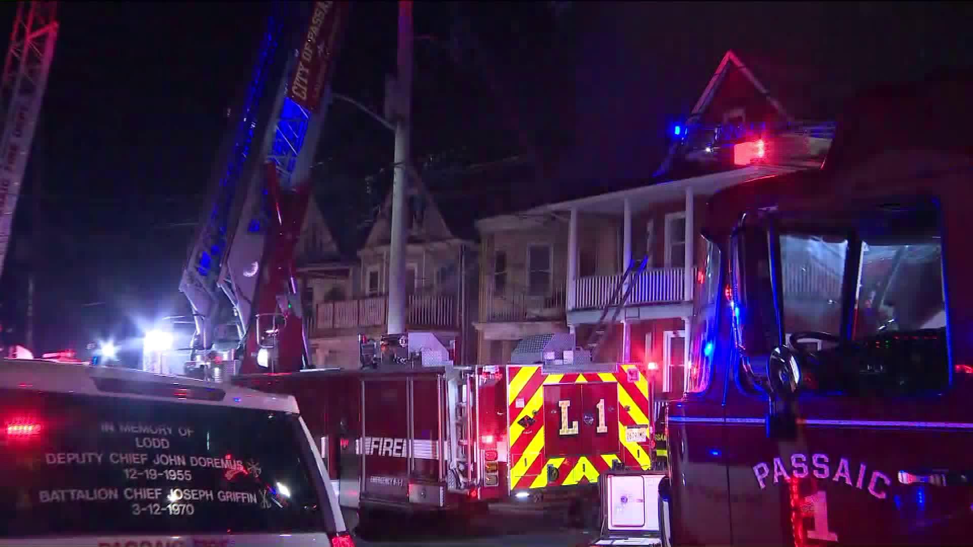 Passaic three-alarm house fire in New Jersey