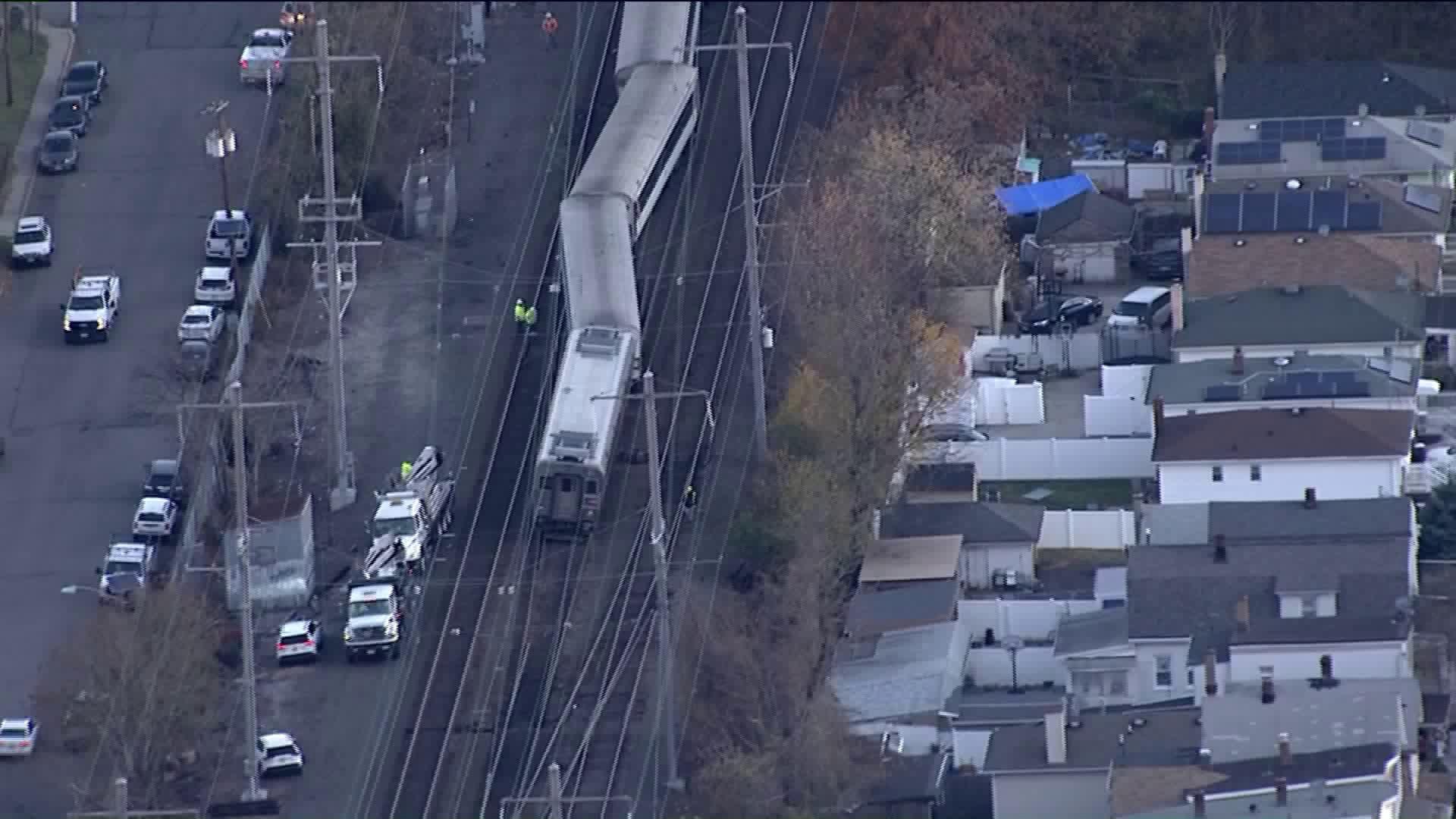 NJ Transit train derailment near Woodbridge station