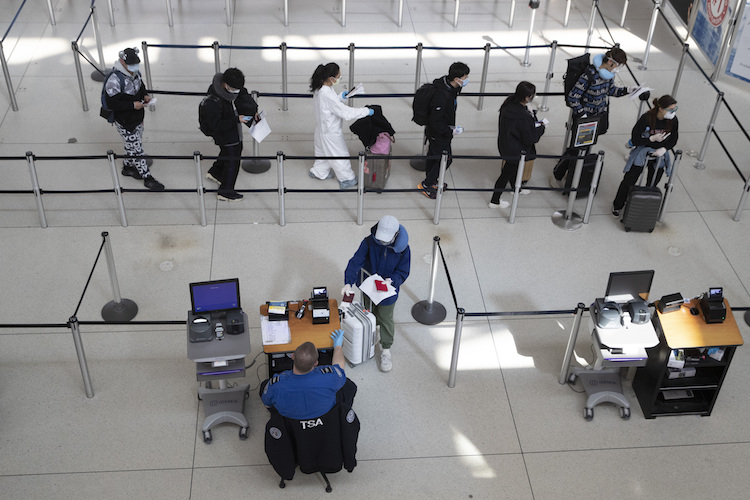 Virus Outbreak New York Airports