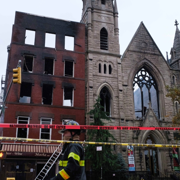 east village church fire