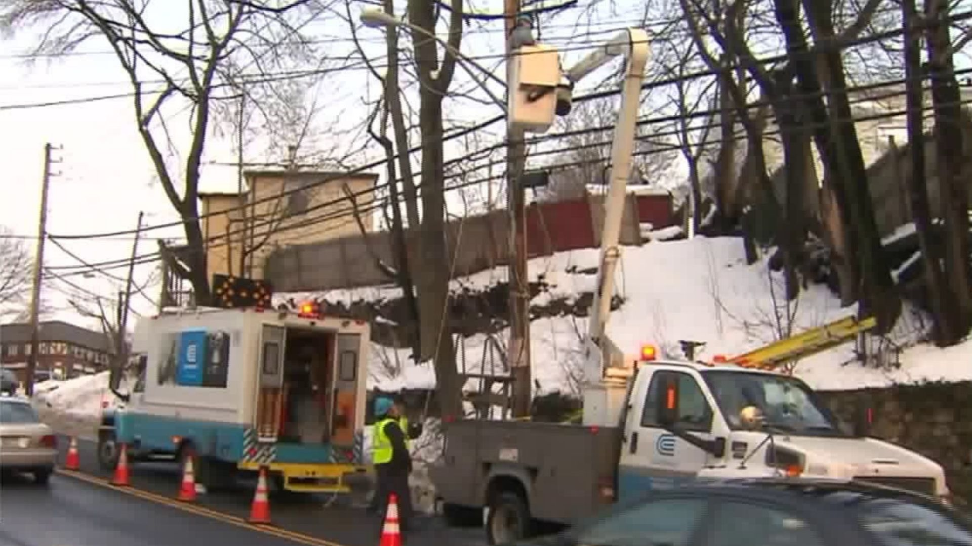 Con Edison power outages in snow