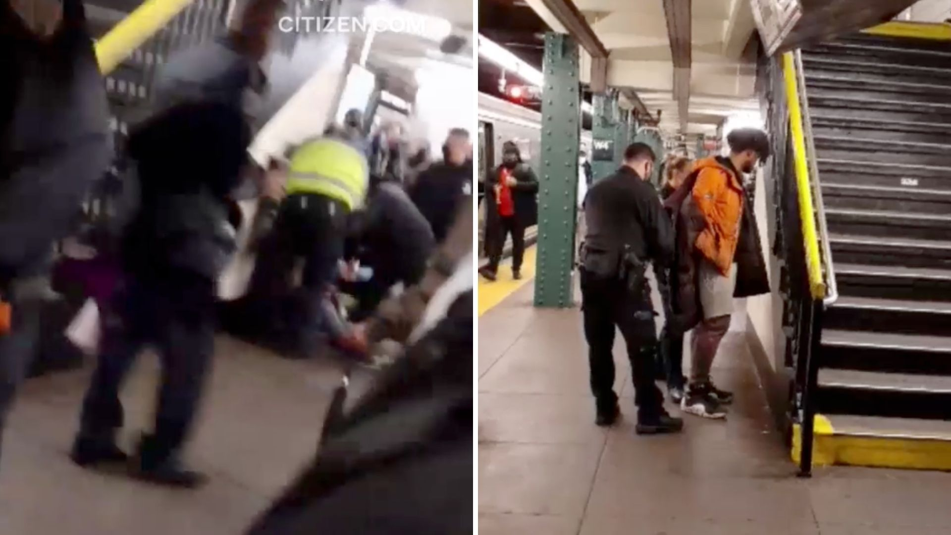 Woman shoved in Manhattan subway station